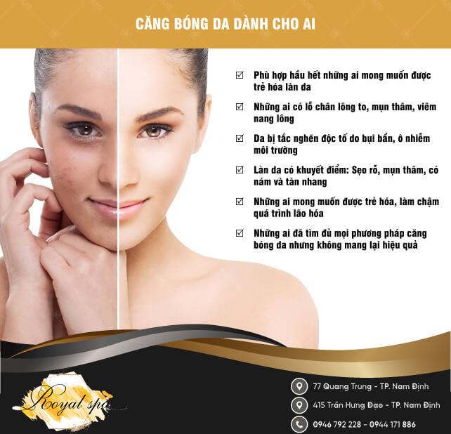 Ai cần căng bóng da mặt tại Nam Định
